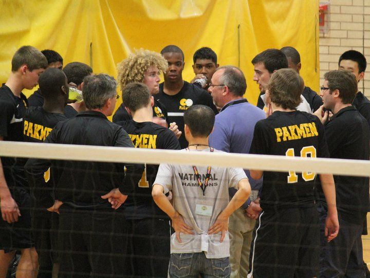 Pakmen team timeout during volleyball game