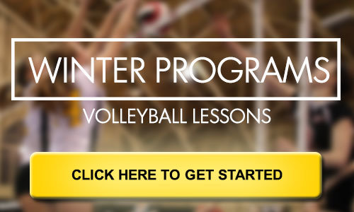 Banner for Winter programs by Pakmen volleyball