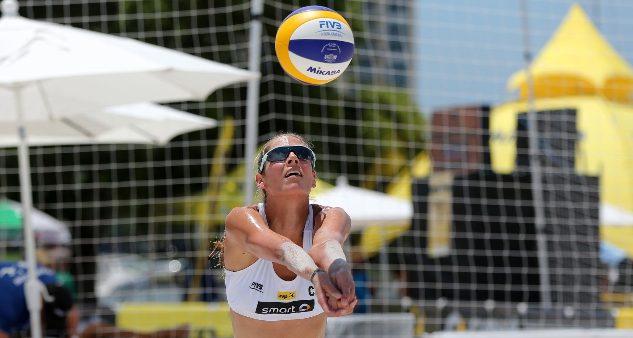 Professional Volleyball player Sarah Pavan in action