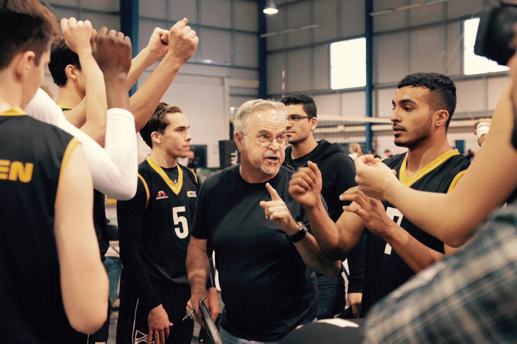 Head coach Orest Stanko and Pakmen 18u boys champions