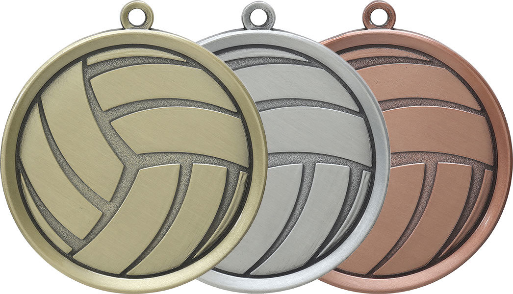Volleyball Gold, Silver, and Bronze Medals