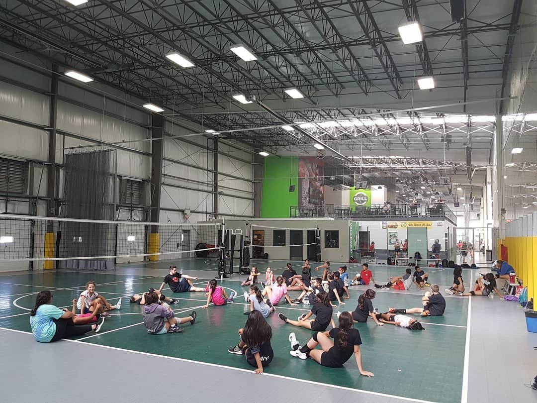 Volleyball Players stretching