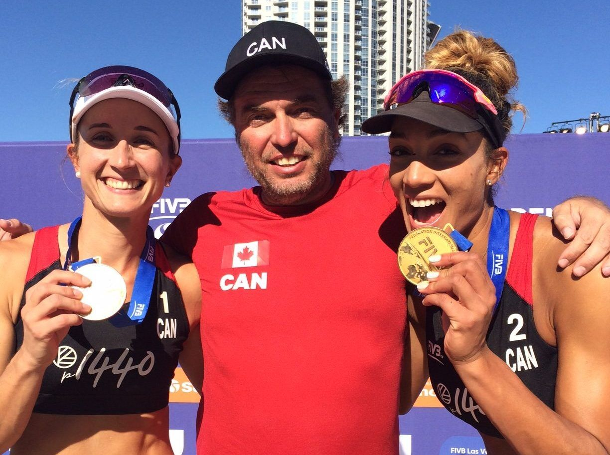Leonard Krapp, Brandie Wilkerson, and Heather Bansley gold medal win at FIVB 4 star in Las Vegas