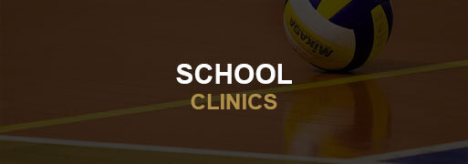 Volleyball School Clinics Banner